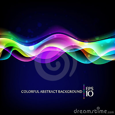 Free Abstract Background - Colorful Waves Royalty Free Stock Image - 20602816