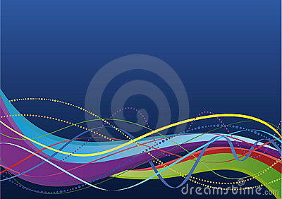 Abstract background - colorful waves and lines
