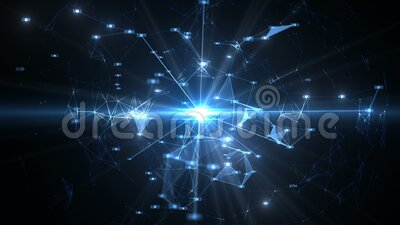 Abstract background of communication, science and technology stock footage