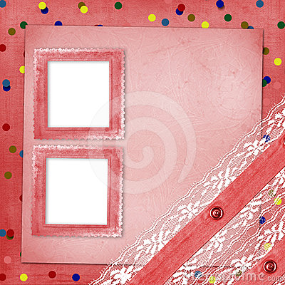 Abstract background with confetti