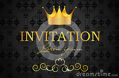 Abstract background with crown vector illustration