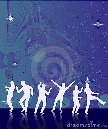 Abstract background with dancers