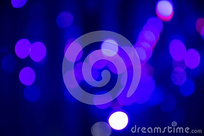 Abstract background with defocused bokeh colorful lights Stock Photo