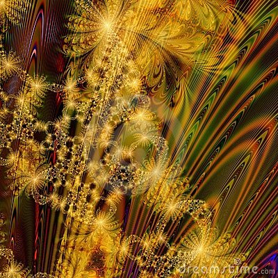 Abstract Background design of Chaotic Golden Fireworks