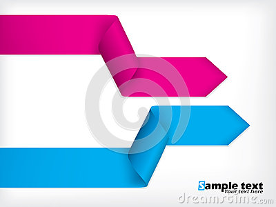Abstract background design with colored ribbons