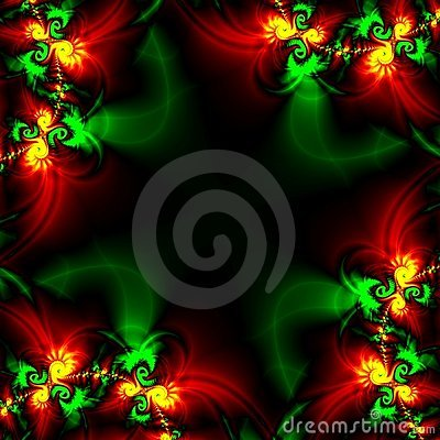 ABSTRACT BACKGROUND DESIGN TEMPLATE IN BLACK, RED, GREEN AND GOLD (click