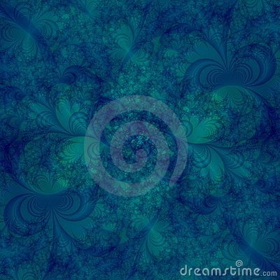Abstract Background Design template in shades of aqua and blue and green swirls
