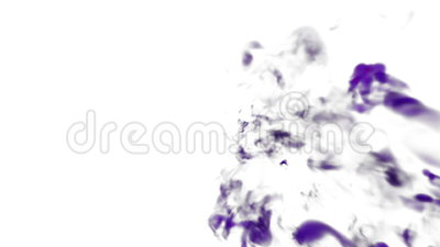 Abstract background of dissolve ink in water or smoke in air for effects and compositing with alpha mask. Use it for Stock Photo