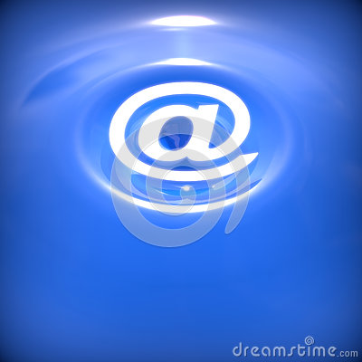Abstract background with e-mail symbol.