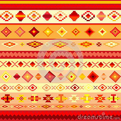 Abstract background with ethnic motifs