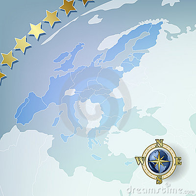 Abstract background with europe map