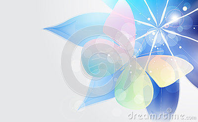 Abstract  background with flower and butterfly.