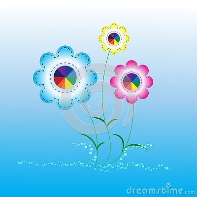Abstract background flower Vector Illustration