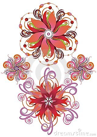 Abstract background  from flowers