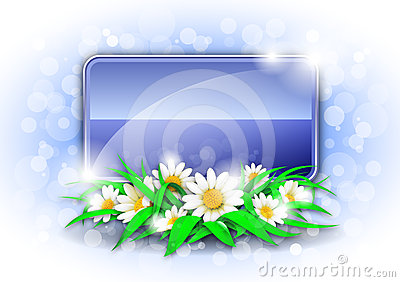 Abstract background with flowers and place for tex