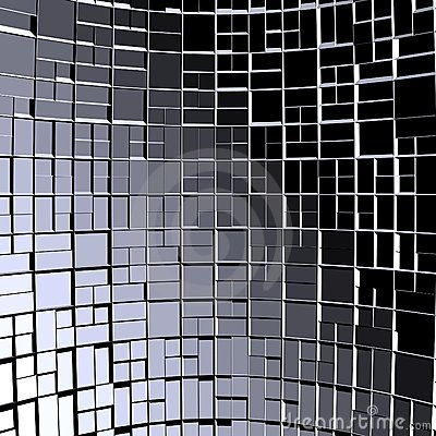 Abstract Background Fractals Blocks Of Cube 01