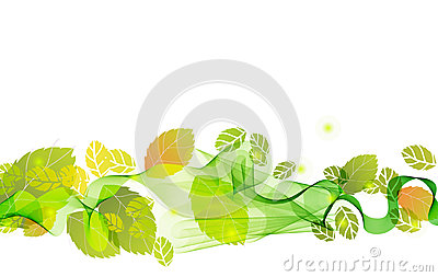 Abstract background with fresh green leaves