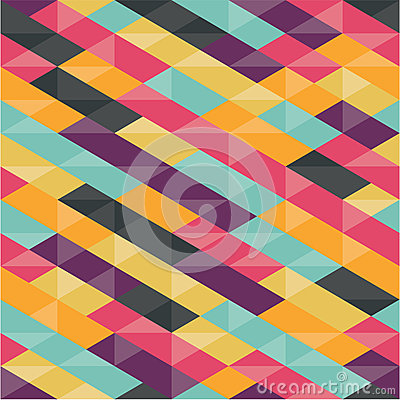 Abstract Background - Geometric Seamless Pattern Vector Illustration