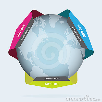 Abstract background with globe and labels