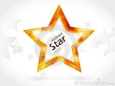 Abstract background with golden centre star