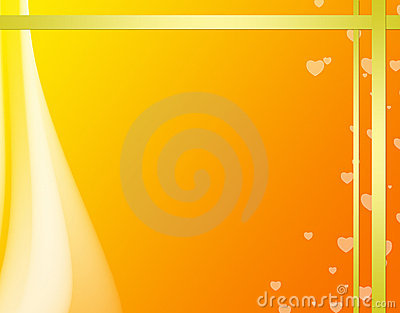 Abstract background with golden ribbons
