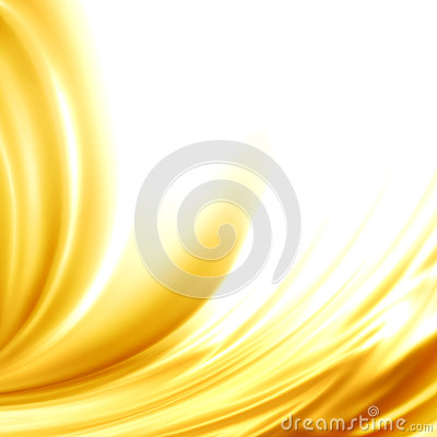 Abstract background golden satin silk frame