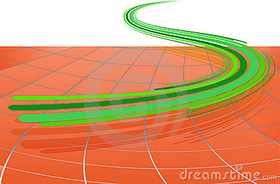 Abstract background with the green lines