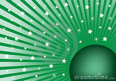 Abstract Background Green with White Stars