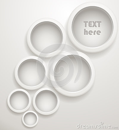 Abstract background of grey circles
