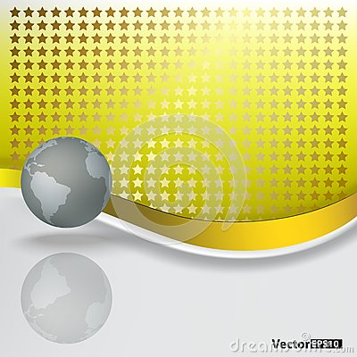 Abstract background with grey globe