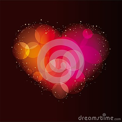 Abstract background with a heart