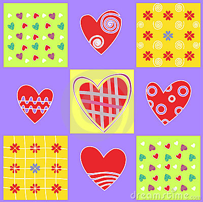 Abstract background with heart and love