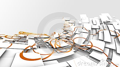 Abstract background image with oramge swirly paths