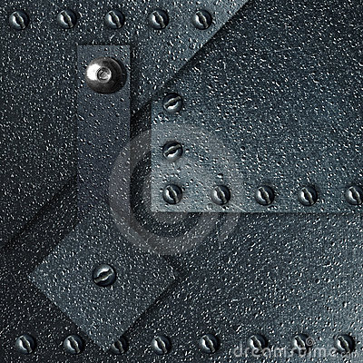 Abstract background from impressive metal