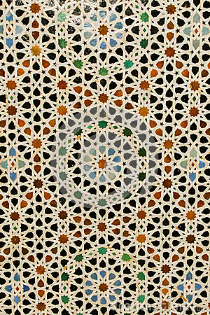 abstract background colorful inlaid moroccan tile royalty