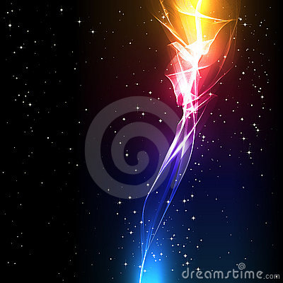 Abstract background with a light flower.