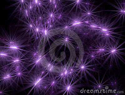 Abstract background with lilac shone stars on