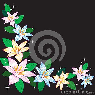 Abstract background with lilies.
