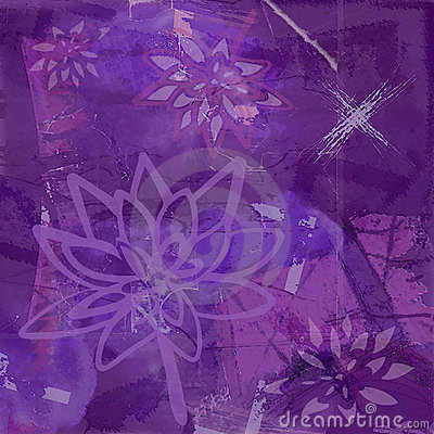 Abstract Background with Lotus Flower in Purple