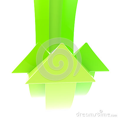 Abstract background made of green arrows