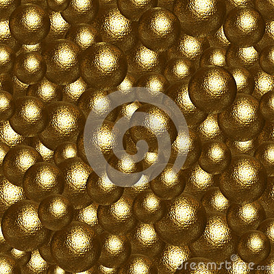 Abstract background of many golden balls