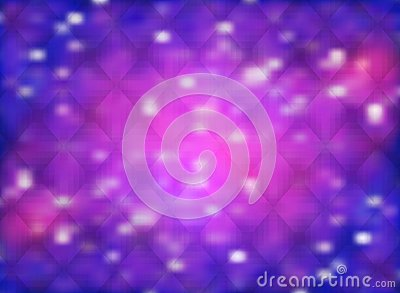 Abstract background with nebula and stars in shining purple and bokeh effect Vector Illustration