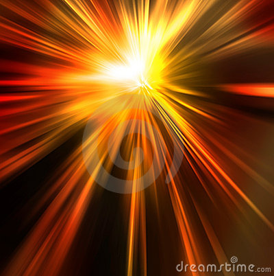 Abstract background in orange red and yellow tones