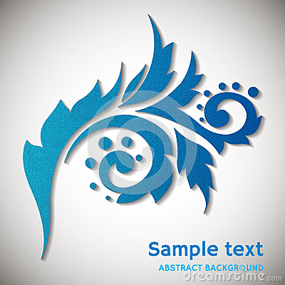 Abstract background with paper floral element