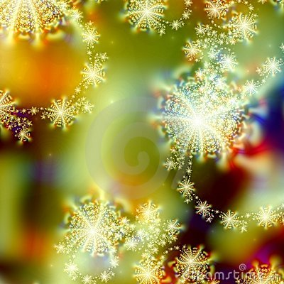 Abstract Background pattern design of Holiday Lights and abstract stars or snowflakes