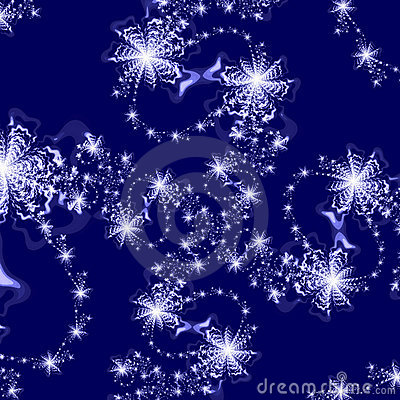 Abstract Background pattern of Silver Stars on Dark Blue Background