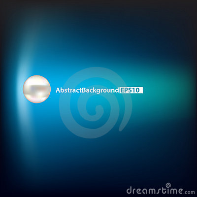 Abstract background with pearl on blue