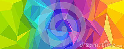 Abstract background polygon colorful. Vector Illustration