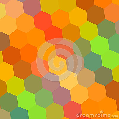 Abstract Background in Rainbow Colors. Pattern Element for Design Illustration. Hexagon Mosaic. Beautiful Color Art. Digital. Stock Photo