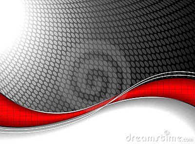 Abstract background with red wave element.